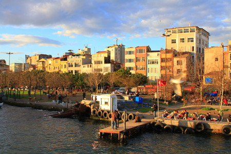 ISTANBUL - JAN 23  Golden Horn on January 23, 2013 in Istanbul  It