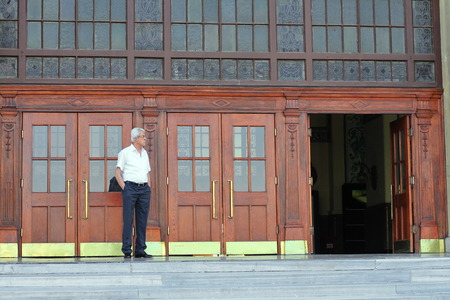 ISTANBUL - JUN 13, 2013: Haydarpasa Central Train Station. Today, railway station closed to allow for the construction of a high-speed rail line between Istanbul and Ankara. It still closed