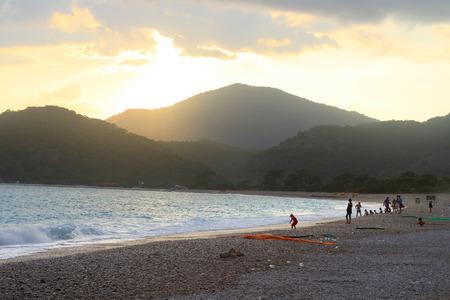 Night Falling over Fethiye, Oludeniz Beach