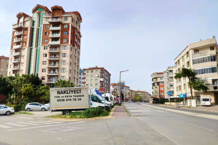 ISTANBUL - APR 19, 2020: The streets of Turkey Cities were deserted on Sunday. People are only permitted to leave their homes for specific purposes, such as buying food, travelling to work or tending to a vulnerable person Редакционное