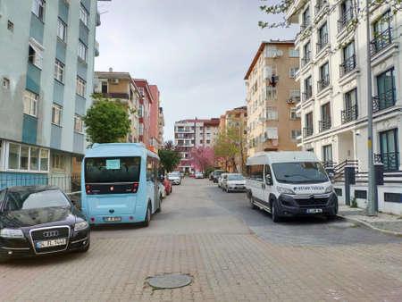 ISTANBUL - APR 19, 2020: Millions in Turkey under coronavirus lockdown as major cities restrict daily life