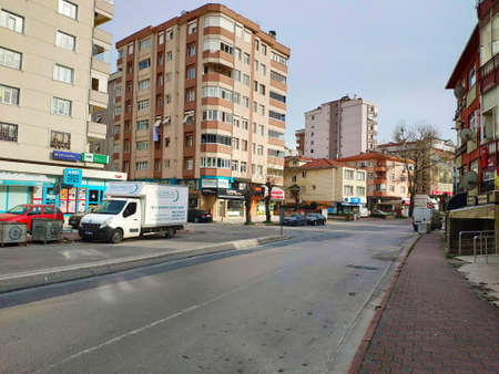 ISTANBUL - APR 19, 2020: Coronavirus: Empty streets as Turkey braces for nationwide lockdown. People will be barred from leaving home for the weekend unless they need food, medicine or if they have to go to work