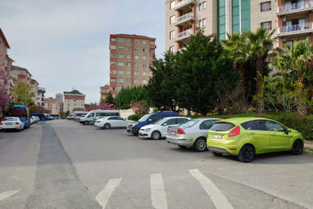 ISTANBUL - APR 19, 2020: Coronavirus virus lockdown empties city streets. Covid19 crisis means Istanbul residents can't leave their homes unless it is essential.