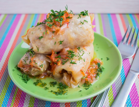 eastern european: Traditional dish Eastern European cuisine Cabbage rolls