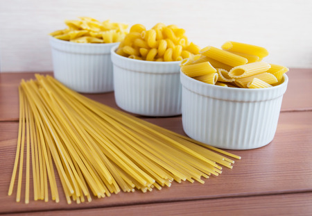 kinds: Vermicelli (Pasta) different kinds Stock Photo