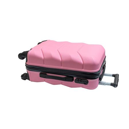 Stylish travel suitcase, isolated on white background. Bag for young travelers.