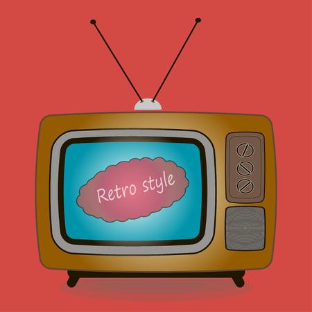 retro tv: old TV movie vector illustration retro style