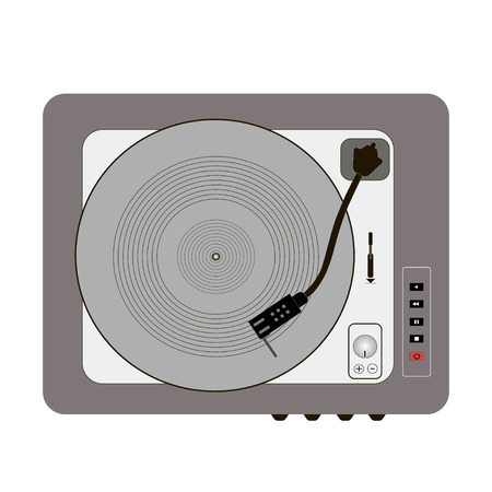 record player: vinyl record player retro grey buttons pinwheel stylish