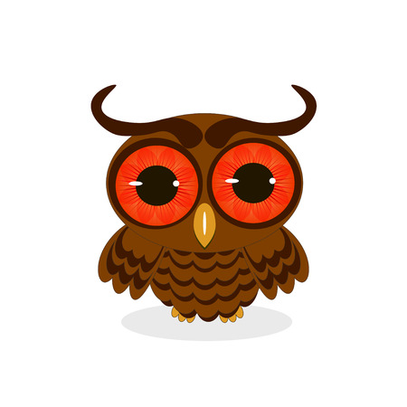 owl isolated: owl isolated on white background vector illustration