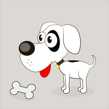 loveable: beautiful dog bone tasty food illustration Illustration