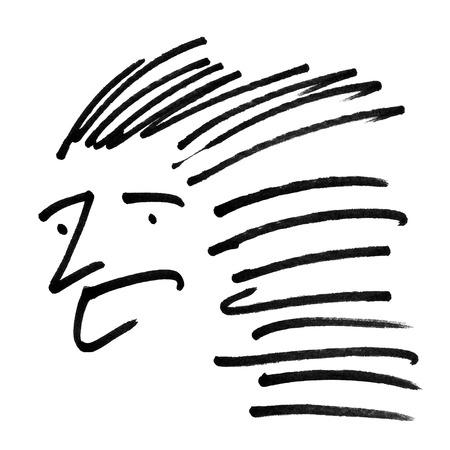 abstrakt Gesicht auf weißem Hintergrund Vektor-Kunst