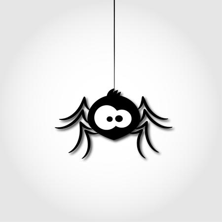 crawly: funny spider cartoon for you design illustration Illustration