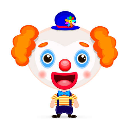 red nose: funny clown with red nose vector illustration Illustration