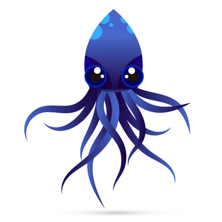 devilfish: Template for logos, labels and emblems with white silhouette of octopus.