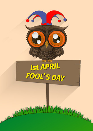 Illustration of April fools day,first April. Stock Photo