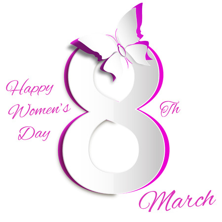 women s day: 8 March Women s Day greeting card template