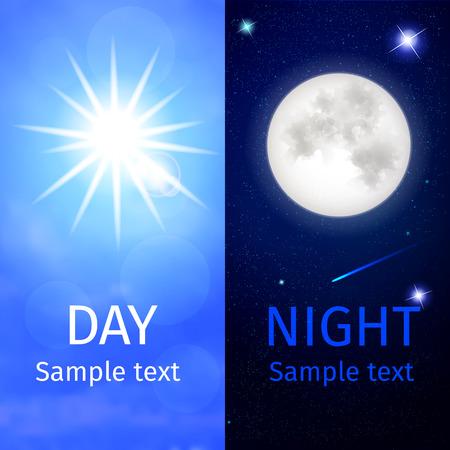 Giorno e notte logo design creativo illustrazione vettoriale
