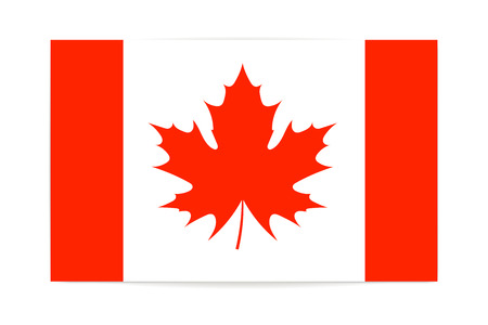 canadian flag: Canadian flag maple leaf vector illustration on white background Illustration