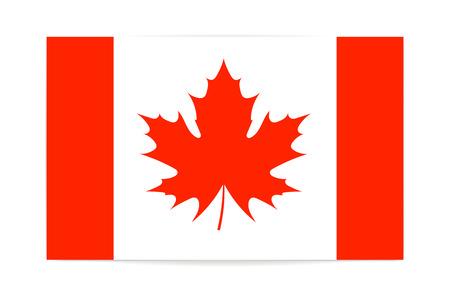 Canadian flag maple leaf vector illustration on white background Illustration