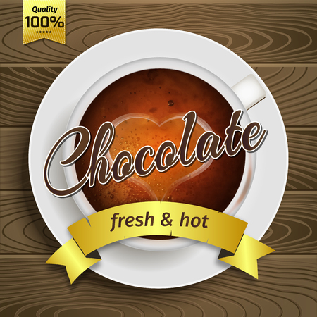 hot cup: Premium hot Cup of chocolate illustration Illustration