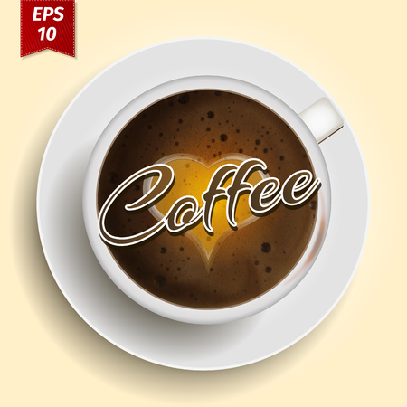 hot cup: Premium hot Cup of coffee illustration