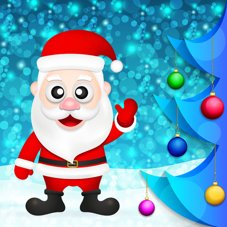 Santa Claus new year greetings card