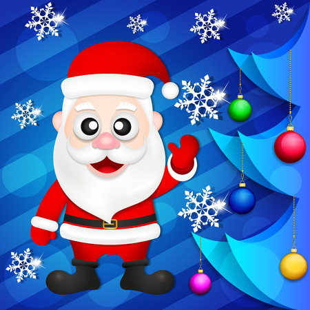 Santa Claus new year greetings card