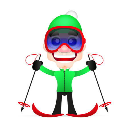cross country: Skis isolated, skier and snow, cross country skiing, winter sport