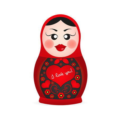 matryoshka: Russian dolls set logo silhouette vector illustration.