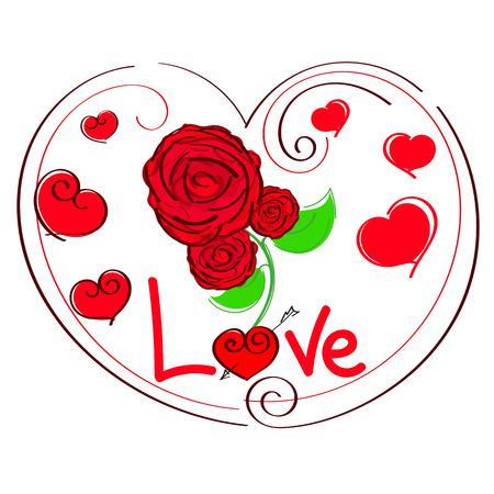 valentineday: heart shape design for love symbols vector illustration Stock Photo