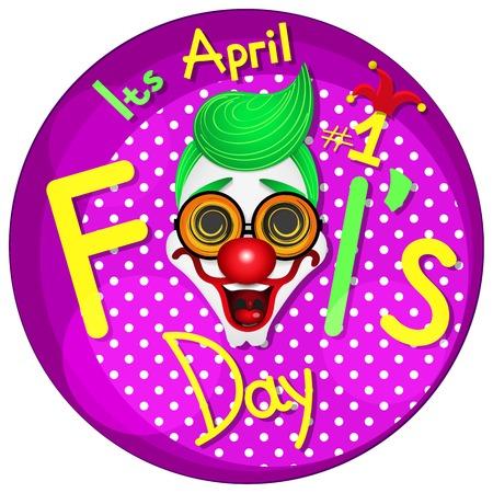 Illustration of a jester hat. April Fools Day. vector illustration