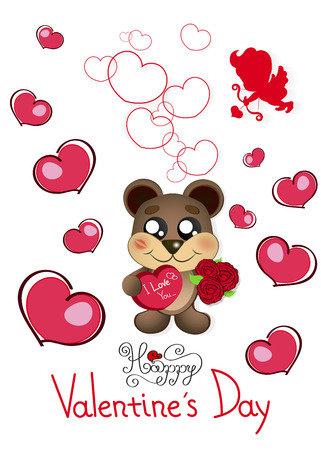 Valentine S Day Teddy Bear Stock Photos Royalty Free Valentine S