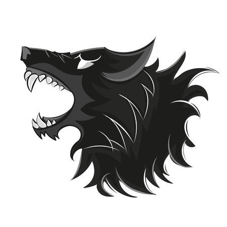 bad wolf logo black and white illustration