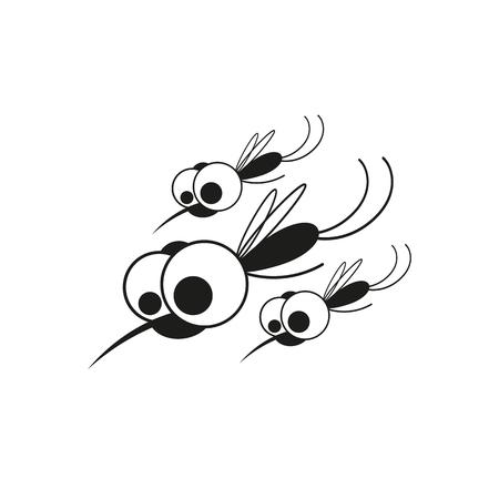 bloodsucking: Mosquito isolated on white background.