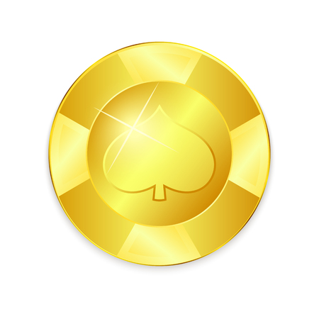 Ripple Coin Gold Coin Vector. Realistic Currency Money Illustration.
