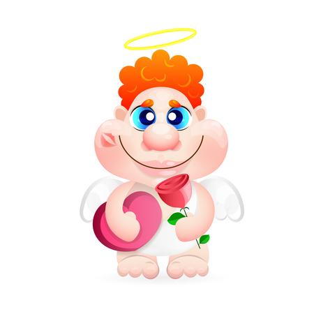 Angel. Greeting card Illustration