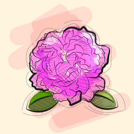 Rose in tattoo style. Red rosebud in vector illustration