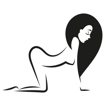silhouette woman ass