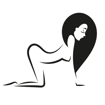 silhouette woman ass