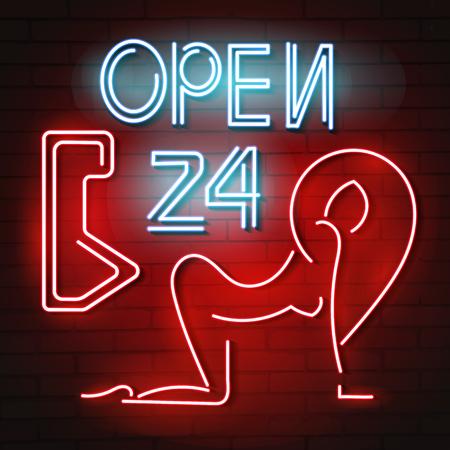 SEXY neon sign Illusztráció