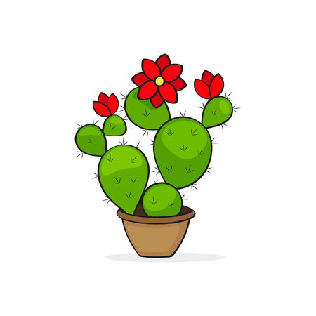 Mexican cactus icon isolated on white background. Mexico country symbol stock vector illustration.