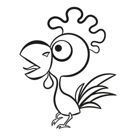 Cock sketch illustration