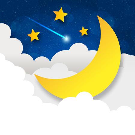 Retro illustration moon