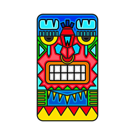 Mayan warrior designed illustration. Illusztráció