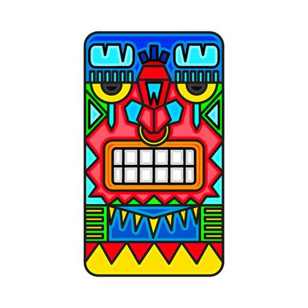 Mayan warrior designed illustration. Illustration