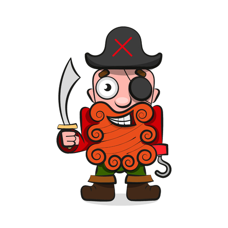 Pirate. Vector illustration