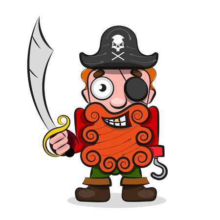 International Talk Like A Pirate Day. Pirate Hook . Eye patch and smoking pipe.