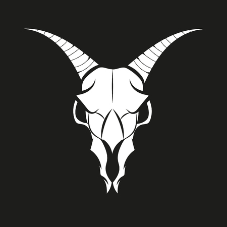 Goat animal Skull Vector isolated vector illustration