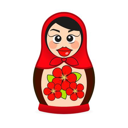 Russian dolls - matryoshka. Vector illustration russian babushka