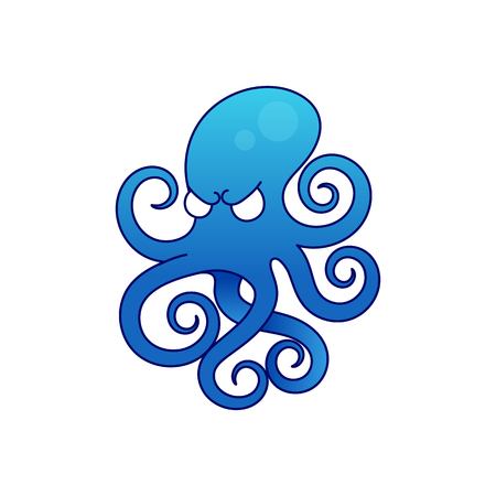 Octopus icon illustration isolated vector sign symbol 矢量图像